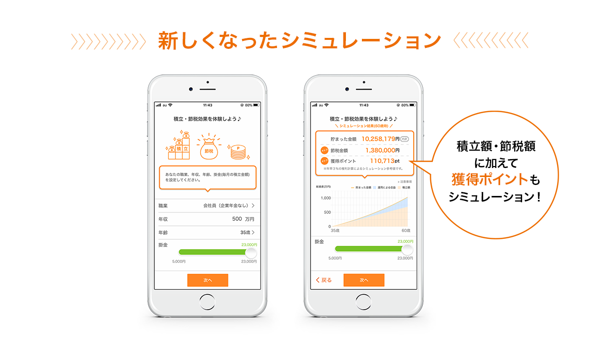auのiDeCoアプリのリニューアル画面の紹介